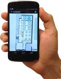 situm app en la mano
